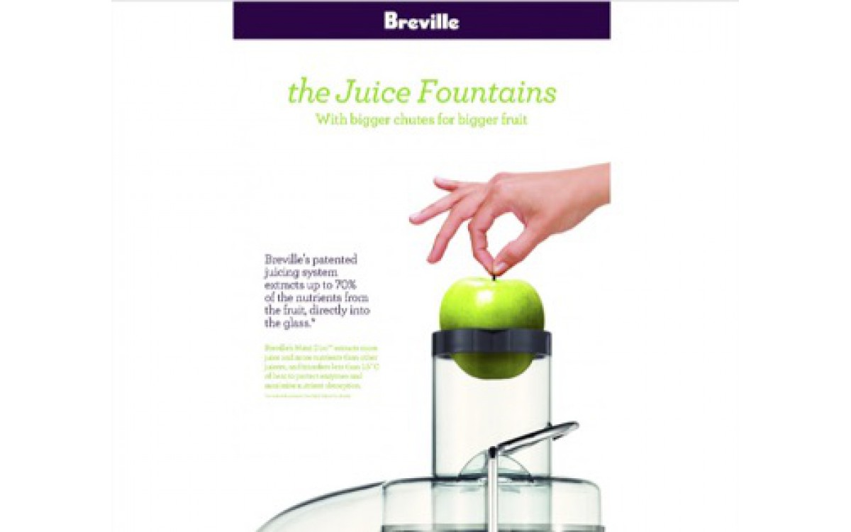 The Juice Fountains with Bigger Chutes for Bigger Fruit